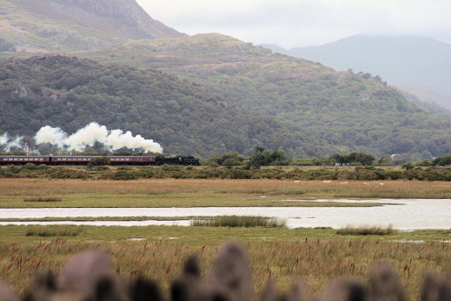 Steam Engine on the Cambrian Coast Railway