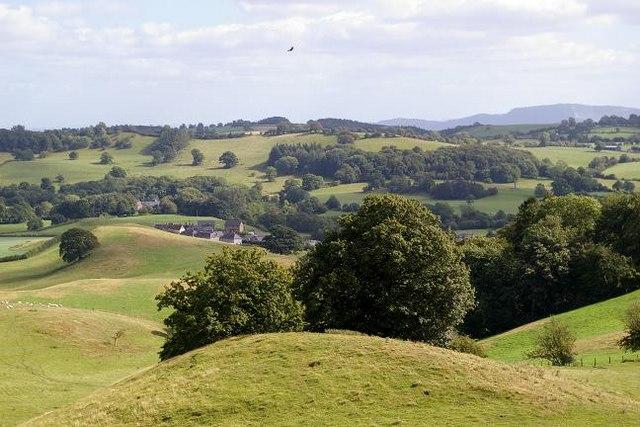 View over Pen-y-bont Llanerch Emrys