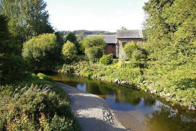 Afon Tanat near Llangedwyn