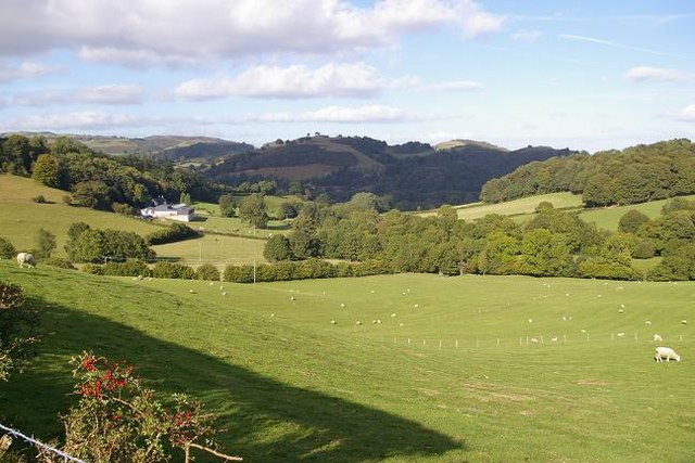 Countryside near Llanfyllin