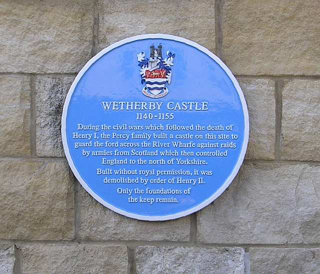 Wetherby Castle - Castle Gate - Blue Plaque