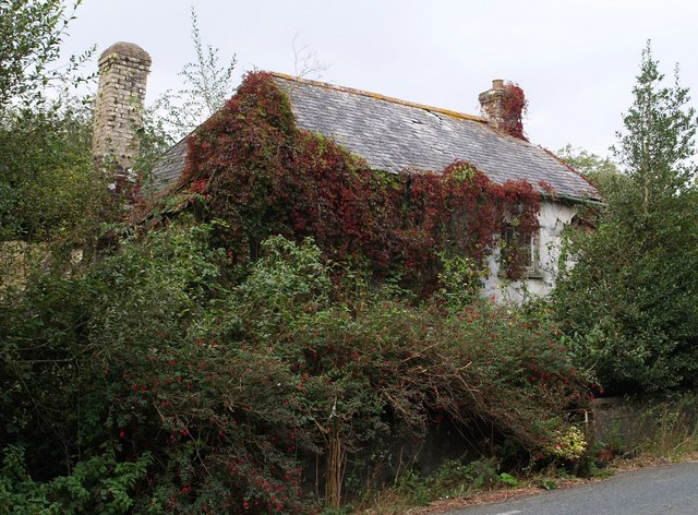 Derelict cottage on Beaford Moor