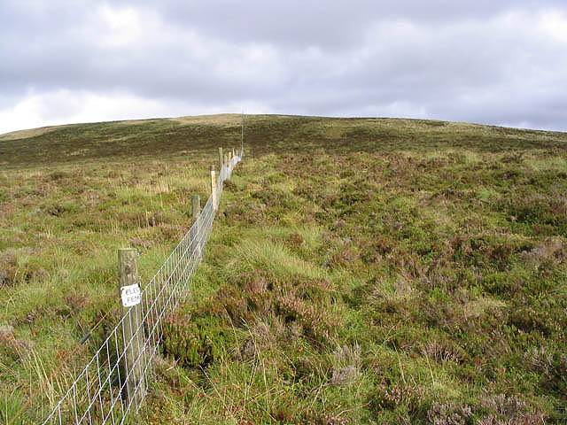 An electric fence on Faw Side