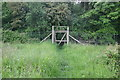 SP6211 : Gated deer fence entrance to Shabbington wood by Shaun Ferguson