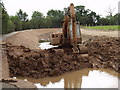 SJ3024 : Canal refurbishment - mixing the clay lining by John Haynes