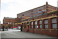 SJ9190 : Pear Mill, Stockport - the rear yard by Alan Murray-Rust