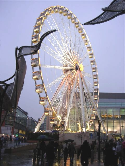 Manchester Wheel in the rain
