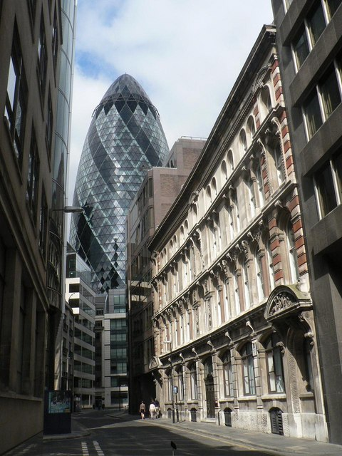 City of London: Billiter Street  and the Gherkin