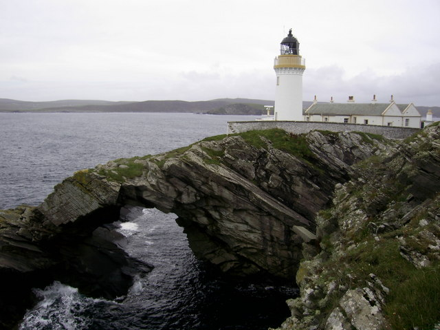 Natural arch, Bressay lighthouse