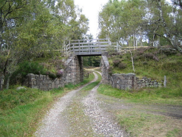 Remains of a bridge on the Deeside Railway