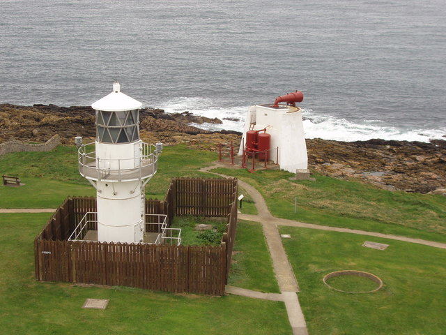 New lighthouse from old, Kinnaird Head