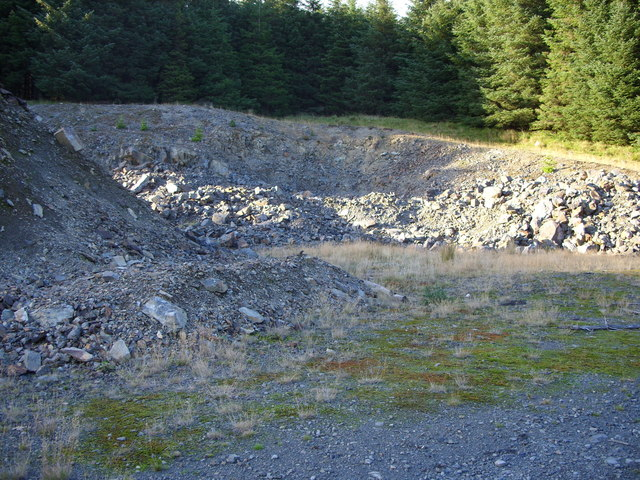 Disused Quarry at Craigenteasy