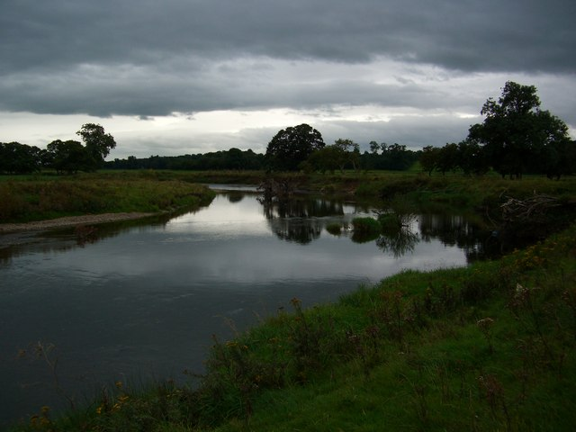 The River Eden just upstream of Ban End Farm