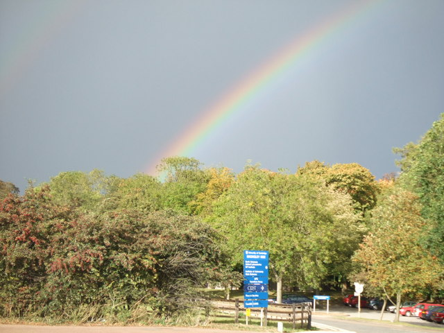 Rainbow over the Institute of Astronomy