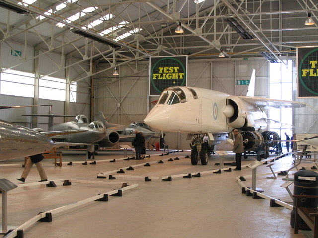 The fated TSR II aircraft at Cosford