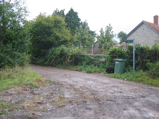 Public footpath at Lydford Fair Place