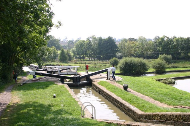 Staircase locks at Watford on the GU Canal