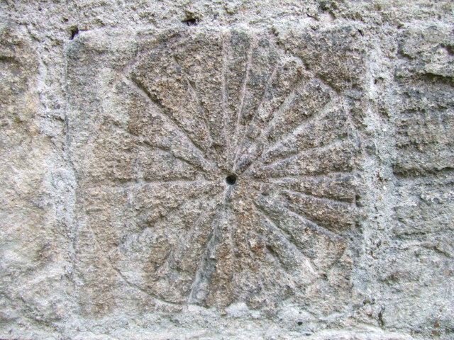 Scratch sundial on Madingley church