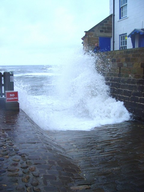 High Tide on the Slipway