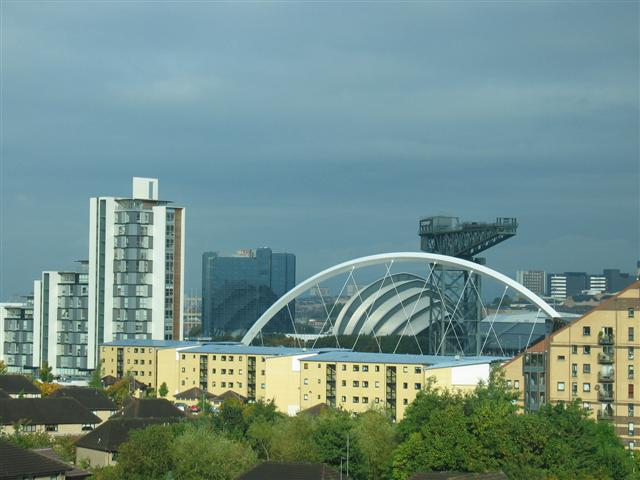 Glasgow skyline by day