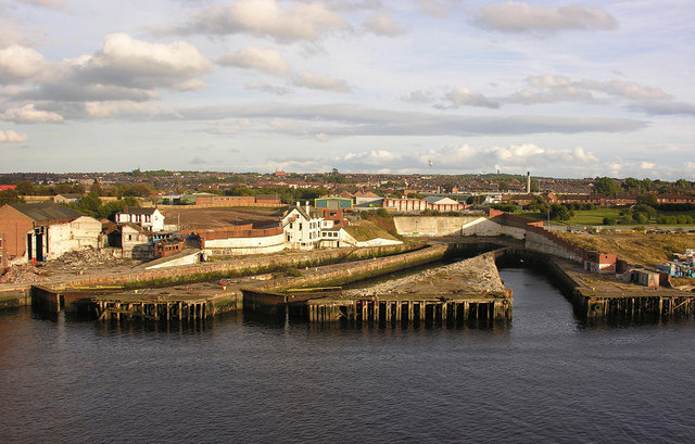 Former drydocks, South Shields