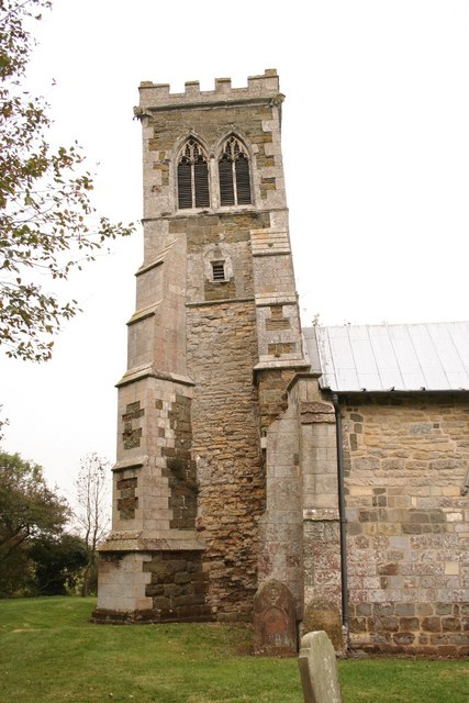 The leaning tower of Saltfleetby