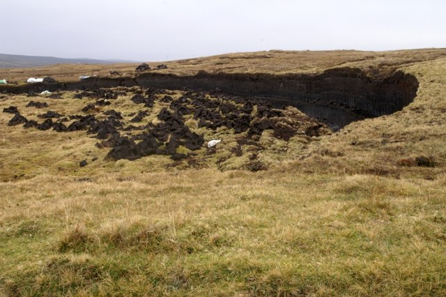 Peat bank at Ulsta
