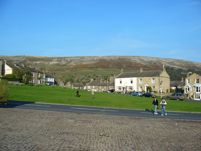 The village green, Reeth.