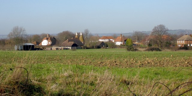 View to Summerhill Oast, Battle Lane, Marden, Kent