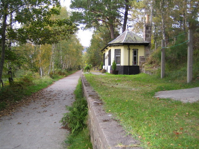 Cambus O'May station on the Deeside Railway