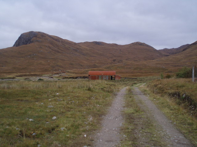 Red Shed and Track at Coire-Domhain