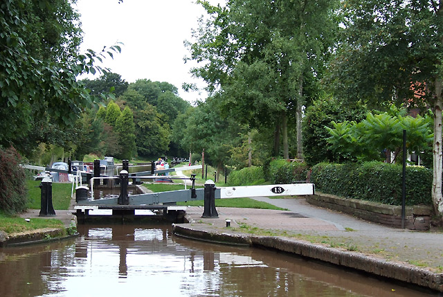 Audlem Locks (No 13), Shropshire Union Canal, Cheshire