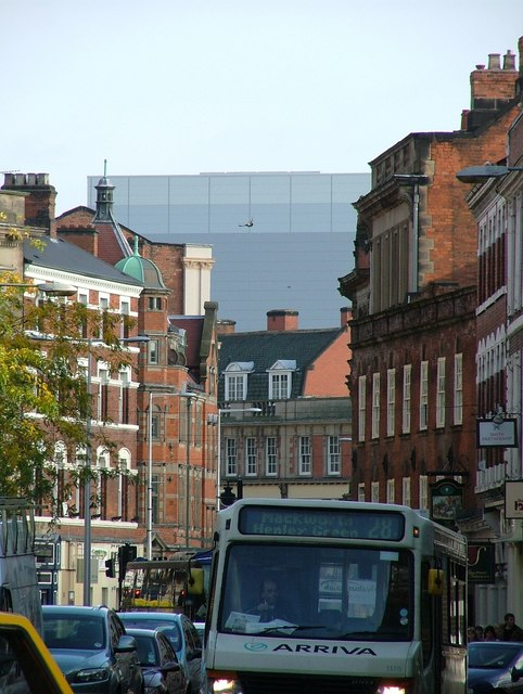 Derby's Westfield shopping centre viewed from the Wardwick