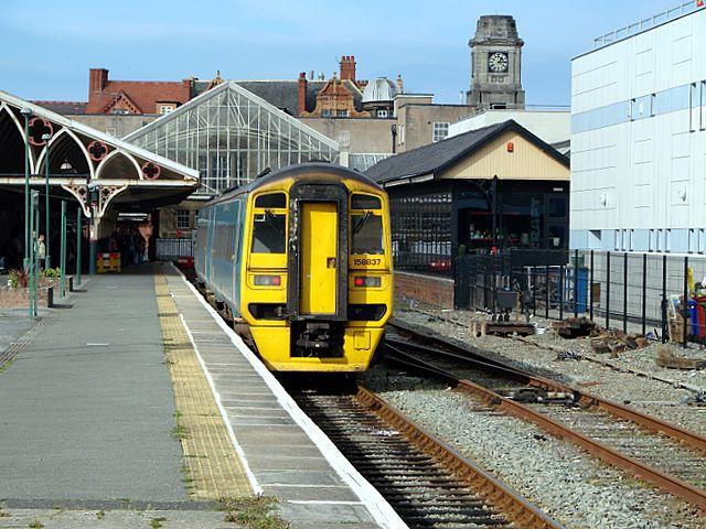 Arrival at Aberystwyth