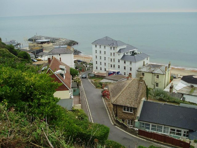 Metropole Apartments and seafront at Ventnor