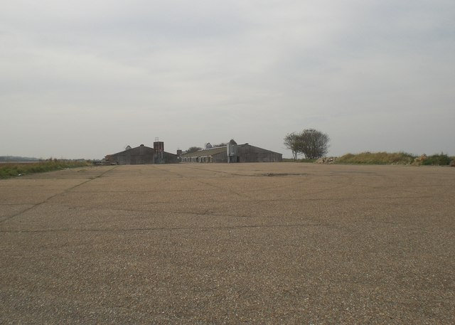 View along runway of former RAF Langham