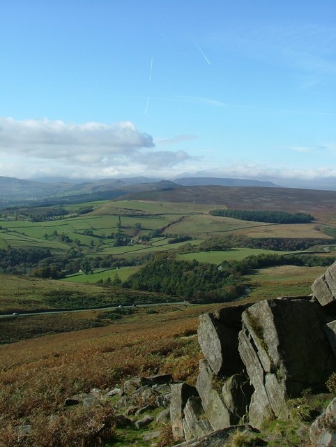Looking west from Stanage Edge