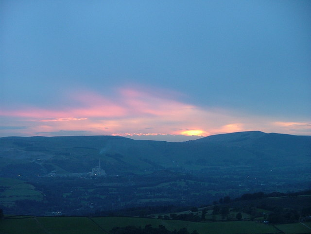 Sunset over Hope cement works