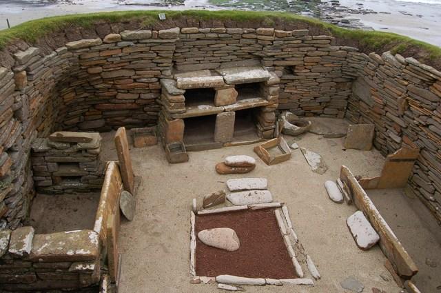 Inside a house at Skara Brae