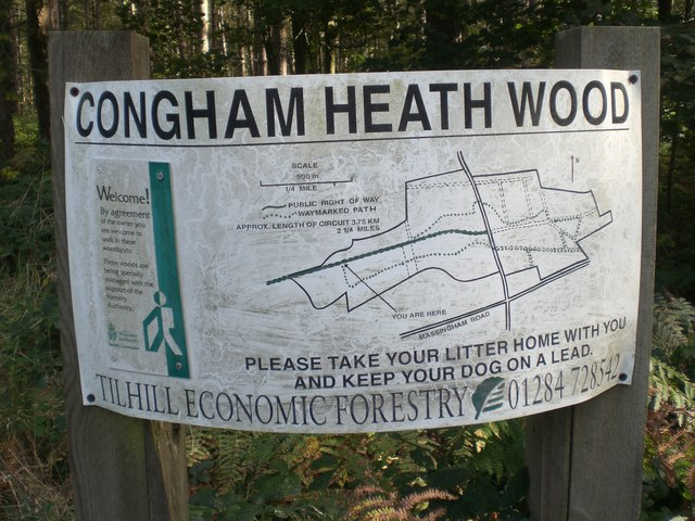 Walkers' map, Congham Heath Wood