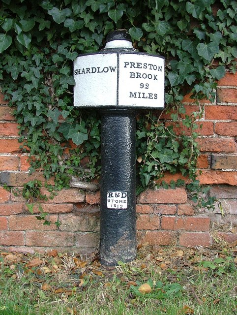 Canal milepost - Trent & Mersey - Shardlow