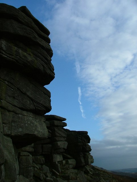 Gritstone crags at Stanage Edge