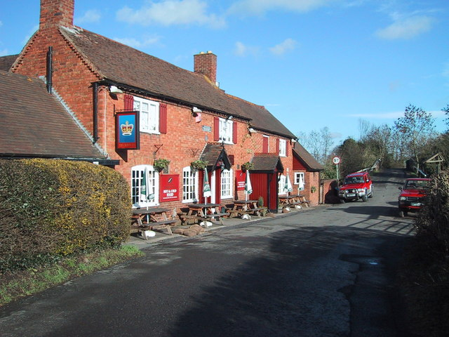'The Crown Inn' public house in Alvechurch, Worcestershire.
