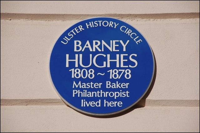 Barney Hughes plaque, Belfast