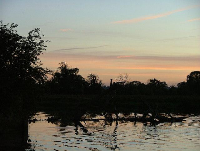 Sunset on the River Derwent