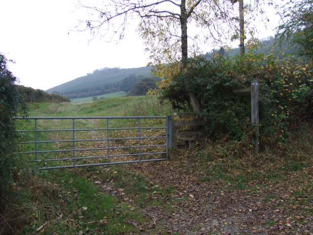 Farm gate and stile