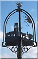 TM0057 : Buxhall village sign by Andrew Hill