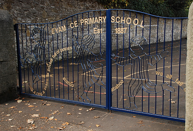 Gates to Eyam C of E Primary School
