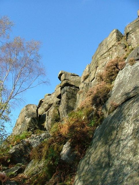 Gritstone outcrops - Froggatt Edge