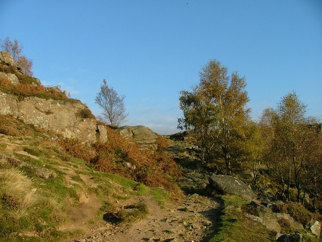 An autumn day at Froggatt Edge